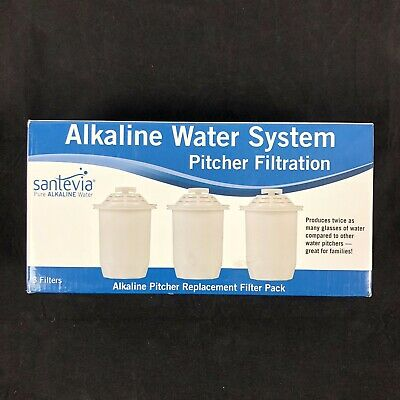 New Sealed Santevia Pure Alkaline Water Systems Pitcher Filter Filtration 3 Pack • 44.68£