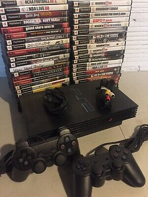 $ CDN212.31 • Buy Sony PlayStation 2 PS2 Fat Console System Complete Bundle 2 Controllers 2 Games
