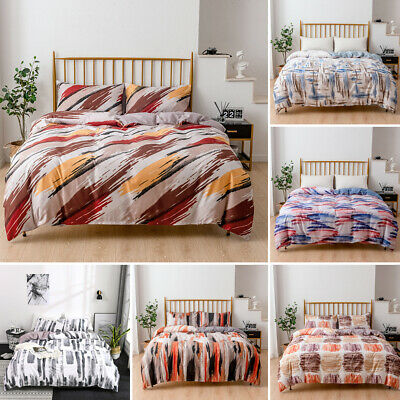 £34.18 • Buy Ink Printed Bedding Sets Duvet Cover + Pillowcases Twin Full Queen King All Size