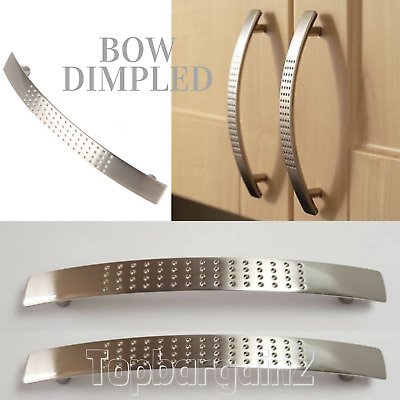 Cabinet Kitchen Cupboard Handles Bow Dimpled Door Pull Handle Polished Chrome • 4.39£