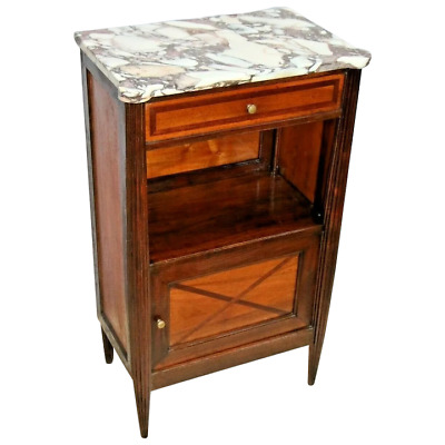 $1695 • Buy Vintage Art Deco Bar Cabinet With Italian Marble Top And Very Rare Ice Box