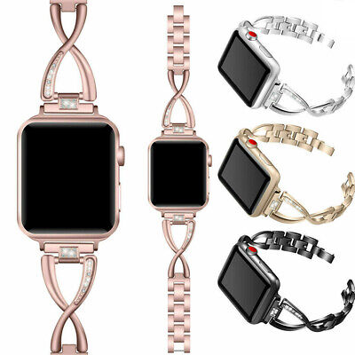 $ CDN11.27 • Buy Stainless Steel Strap Bracelet Watch Band For Apple Watch IWatch Series 4 3 2 1