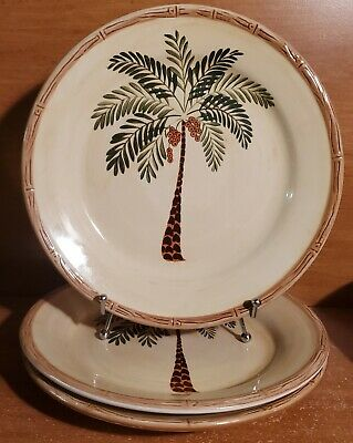 $14.99 • Buy Home Trends WEST PALM Dinner Plate Set Of 3, 10 5/8 , Bamboo Edge