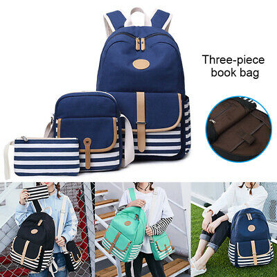 $62.08 • Buy 3 PCS School Backpack Girls Womens High School College Bookbags Laptop Bag YU