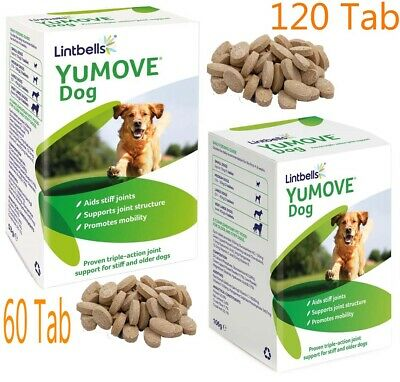 Lintbells YuMOVE Dog Joint Supplement For Stiff And Older Dogs 60/120 Tabs New • 25.99£