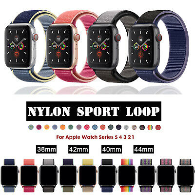 $ CDN4.93 • Buy 38/42/40/44mm Nylon Sport Loop IWatch Band Strap Fr Apple Watch Series 5 4 3 2 1