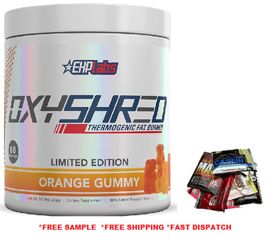 AU79.95 • Buy EHPlabs Oxyshred Orange Gummy Flavour 60 Serves Ehp Labs Limited Edition