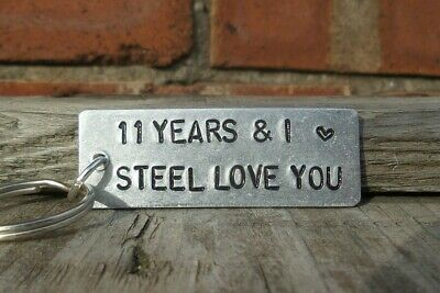 £12.99 • Buy 11 YEARS AND I STEEL LOVE YOU 11th Wedding Anniversary Gift Husband Wife Keyring