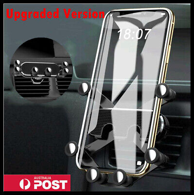 AU13.99 • Buy Gravity Car Phone Holder Air Vent Mount 360° Stand Cradle For IPhone Samsung GPS