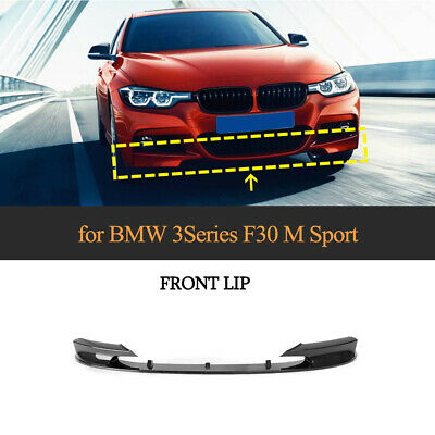 AU307.60 • Buy For BMW F30 F31 M-Sport 14-18 ABS Front Lip Spoiler Bumper Splitter Carbon Look