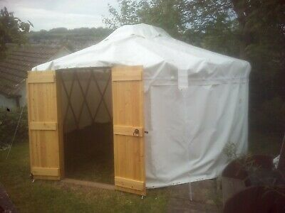 Yurt 5 M. White PVC Canvas,for Events And Studios, Wood Doors Front And Back. • 2,800£
