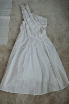 £250 • Buy Vivienne Westwood Anglomania White One Shoulder Grecian Dress Womens IT44 UK12