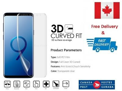 $ CDN5.62 • Buy 2 X Full Coverage 3D Film Screen Protector For Samsung Galaxy S9+ Plus