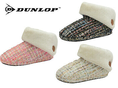 £12.95 • Buy Ladies Slippers Ankle Boots Winter Warm Cosy Padded Fur Outdoor Sole Booties
