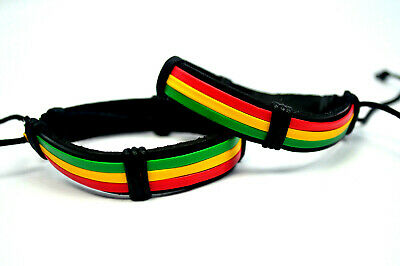 $9.97 • Buy 2 Piece Jamaican Rasta Beads Bracelet For Men Women Unisex African Red Yellow #2