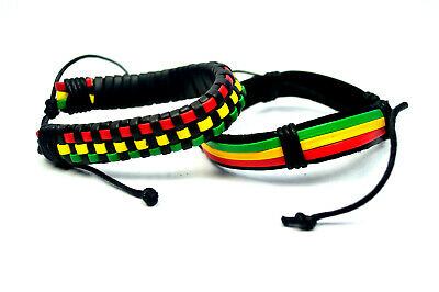 $9 • Buy 2 Piece Jamaican Rasta Beads Bracelet For Men Women Unisex African #5