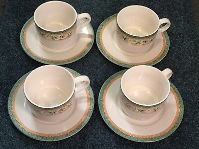 £14.15 • Buy Pfaltzgraff French Quarter Coffee Cup And Saucer Sets,  Set Of 4
