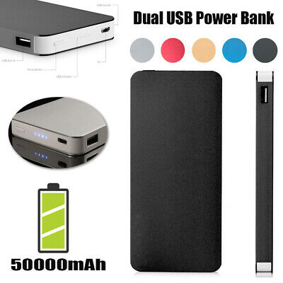 AU13.20 • Buy 50000mAh External Power Bank Dual USB Portable Battery Charger For Mobile Phone