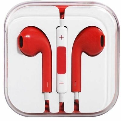 £2.79 • Buy Iphone 5/6 Ipad Compatible Red Earphone With Mic & Quality Sound