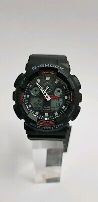 View Details Casio G-Shock Men's Black Resin Strap World Time Watch GA-100-1A4ER  ~NEW~ • 44.95£