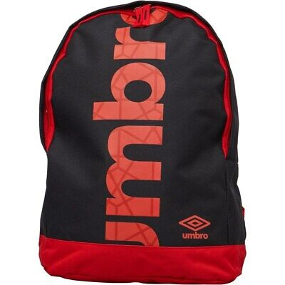 NEW - Umbro Commodus Liner Logo Backpack Black - One Size • 14.99£