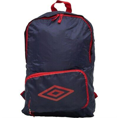 NEW - Umbro Packaway Diamond Logo Backpack Blue - One Size • 14.99£