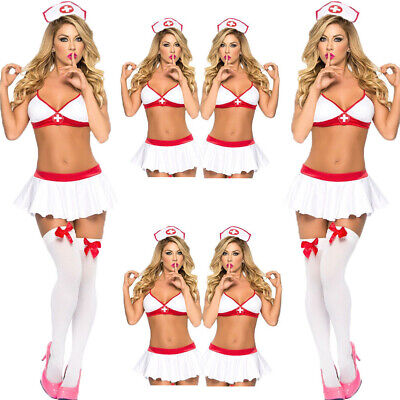 Uk Womens Sexy Naughty Lingerie Hen Fancy Dress Party Outfit Nurse Costume • 5.47£