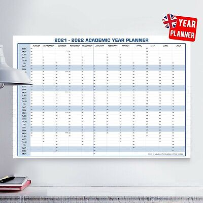 2020-2021 Red Mid-Year Wall Planner Calendar For Students | A4 A3 A2 A1 A0 | • 2.99£