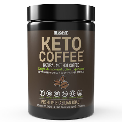 $19.99 • Buy Giant Sports Keto Coffee MCT Caffeinated 20 Servings