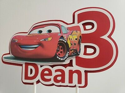 Cars, McQueen, Personalized Cake Topper, Party Decoration, Centerpiece • 6.57£