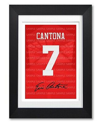 £11.99 • Buy Eric Cantona Manchester United Signed Poster Print Photo Autograph Shirt Gift