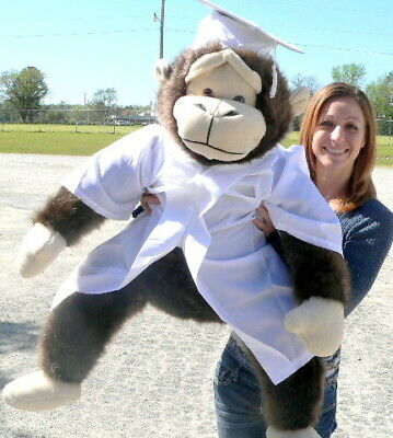 $ CDN153.70 • Buy Giant Stuffed Monkey Gorilla 40-inches Wearing White Graduation Gown And Cap