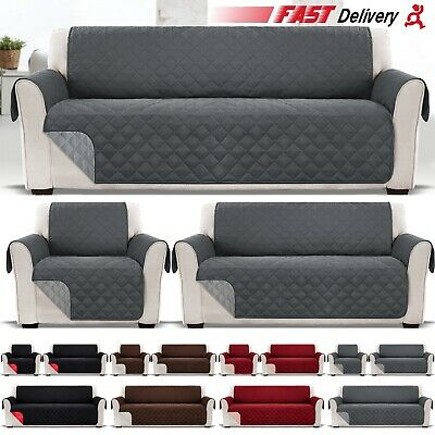 £13.99 • Buy 1 2 3 Seater Sofa Covers Quilted Throw Washable Anti Slipcover Protector Couch