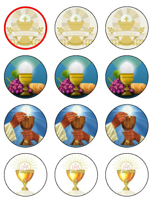 First Holy Communion Edible Cake Toppers Wafer Or Icing Cupcake X 12 Decoration • 3.99£