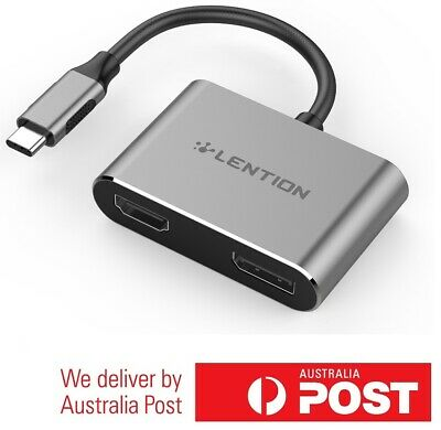 AU59.97 • Buy Premium USB C To HDMI + DP 4K Adapter With Multi-Steam Support For Type-C Device
