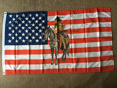 $10.01 • Buy USA Indian Pony Flag 3 X 5 Ft. Polyester 2 Grommet Holes One Side