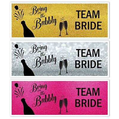 £3.99 • Buy X 2 Hen Party Do Night Bridal Shower Banners Team Bride Wall Decorations