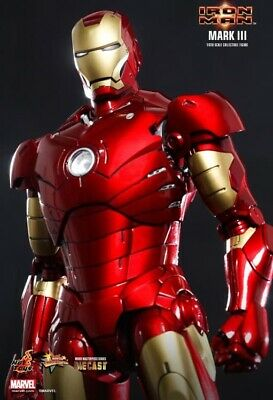 $ CDN604.59 • Buy Hot Toys MMS256D07 Iron Man Mark III 1/6th Die-cast US Seller Mint In Box