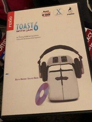 £56.78 • Buy Roxio Toast With Jam 6 MAC CD Mixing Mastering Software Editing Music Movies +