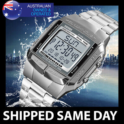 AU19.95 • Buy 381 SKMEI 30M Mens Waterproof Sports Watch Digital Military Water Resistant 125