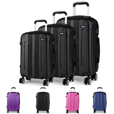 4 Wheel Suitcase Hard Shell Cabin Case Lightweight Spinner Luggage Trolley Bag • 70.69£