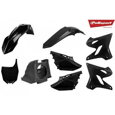 AU319 • Buy POLISPORT Black PLASTICS MX KIT RESTYLE YAMAHA YZ125 YZ250 02-18 INCLUDES AIRBOX