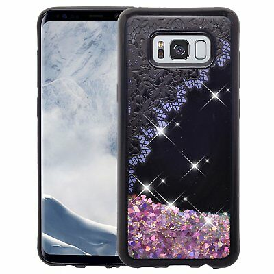 $ CDN10.03 • Buy Samsung Galaxy S8 Case Bling Liquid Glitter Sparkle Quicksand Cover Purple Lace