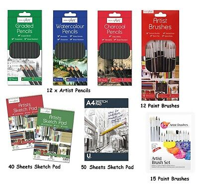 £2.99 • Buy Artist Pencils For Drawing Sketching Charcoal Watercolour Graded Pencil Sketch