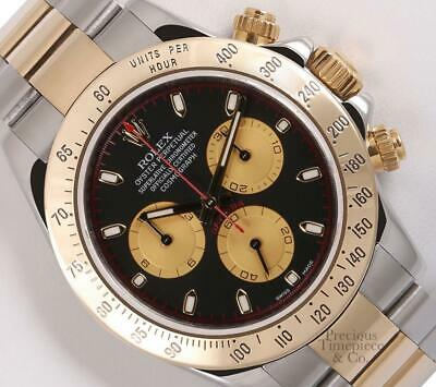 $ CDN23163.20 • Buy Rolex Men Daytona 116523 18k Gold Two Tone 40mm Watch-Custom Paul Newman Dial