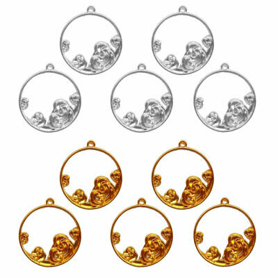 £2.79 • Buy 5Pcs Luck Clouds Round Resin Frames Pendant Bezel Setting Resin Making Jewelry