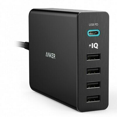 AU66 • Buy Anker PowerPort 5 Port 60W USB-C Changer With PD Fast Charge Mac Apple Samsung