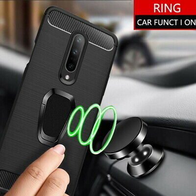 AU5.14 • Buy For One Plus 7 Pro 6T 6 5T Ring Holder Shockproof Slim Silicone Soft Case Cover