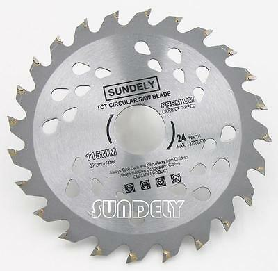 £8.59 • Buy 115mm Angle Grinder Saw Blade For Wood And Plastic 24 TCT Teeth