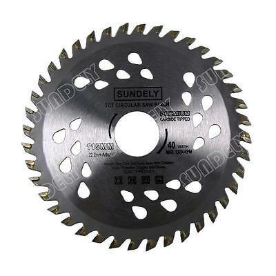 £7.99 • Buy 115mm Angle Grinder Saw Blade For Wood And Plastic 40 TCT Teeth